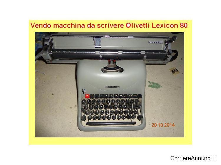 Macchiana da scrivere vintage olivetti