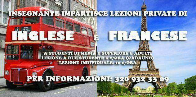 Offresi lezioni di inglese e francese