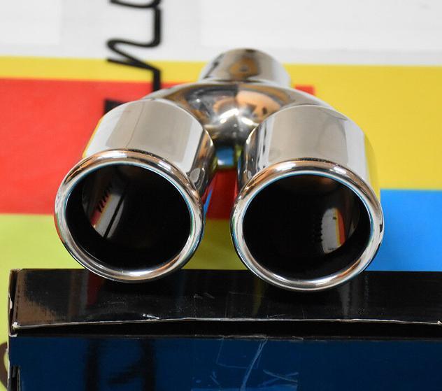 Bmw serie 3 e90 e91 05-11 terminali di scarico cromati inox