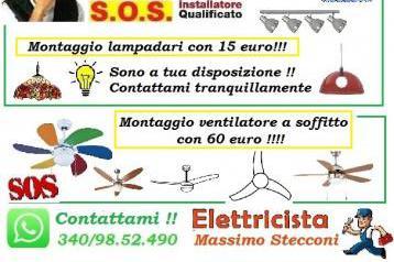 Lampadario e ventilatore