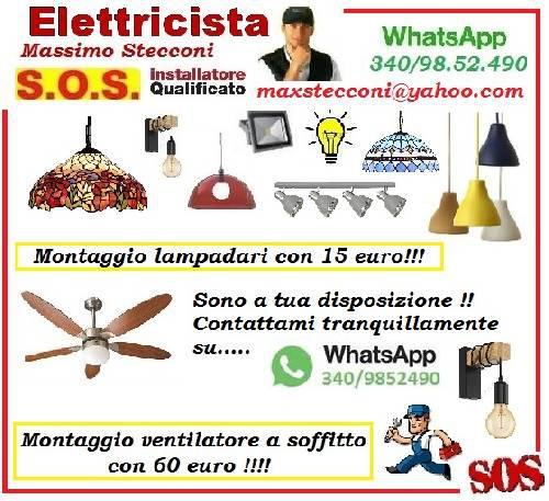 S.O.S ELETTRICISTA LAMPADARIO ROMA CON 15 EURO