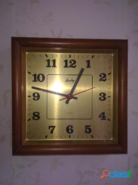 Orologio da muro, in legno vetro e metallo