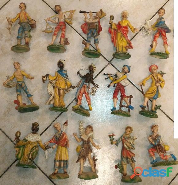 Statuine presepe 13 cm 15 cer@si tutta la serie e dischi religiosi