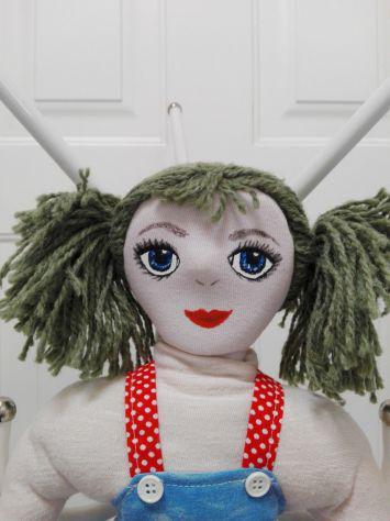 Bambola portasacchetti, portaogetti in stoffa