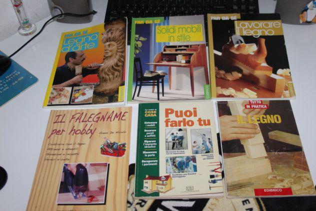 Lotto 6 libri legno falegname fai da te mobili legname