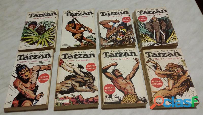Tarzan Edgar Rice Burroughs Vol.1 2 3 4 5 6 7 8 Ed.Giunti Bemporad Marzocco,1971 perfetto