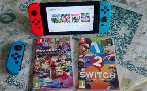 Nintendo switch giochi compresi e controller