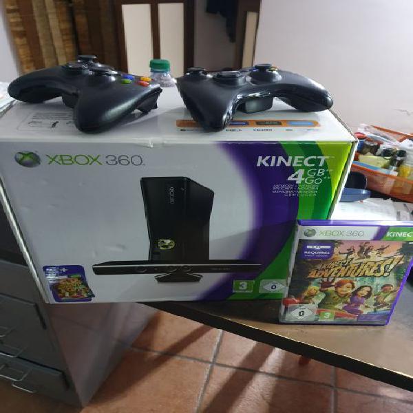 Xbox 360 slim 4gb 500gb kinect 43 giochi 2 control + jtag