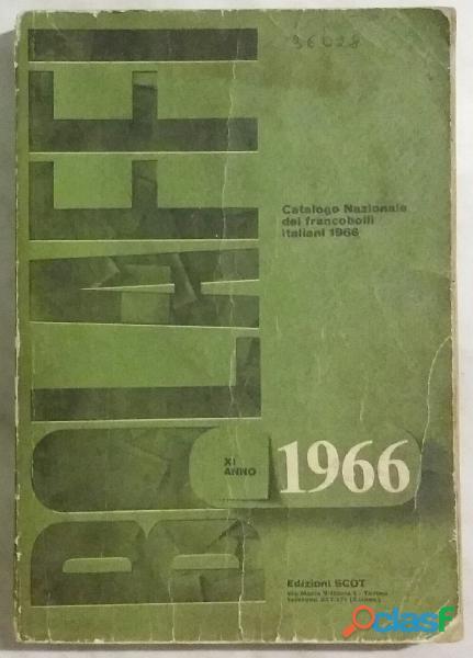Bolaffi Catalogo Nazionale dei francobolli Italiani 1966 ottime condizioni