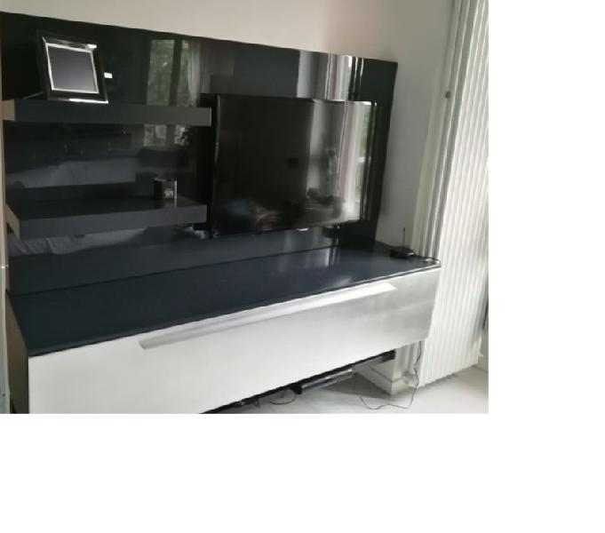 Mobile tv san giacomo laccato grigio antracite