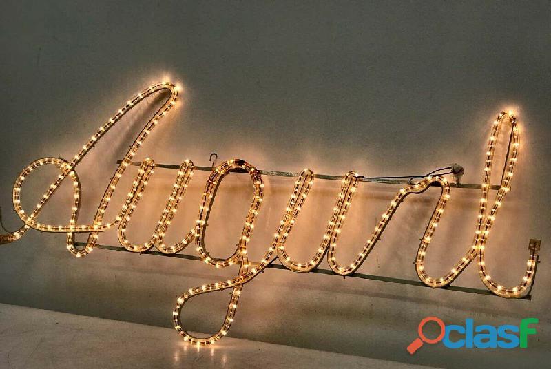 AUGURI insegna luminosa Natale 114x54 cm