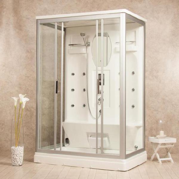 Box doccia idromassaggio multifunzione 140x90 cm vorich