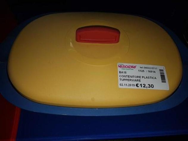 Contenitore plastica tupperware