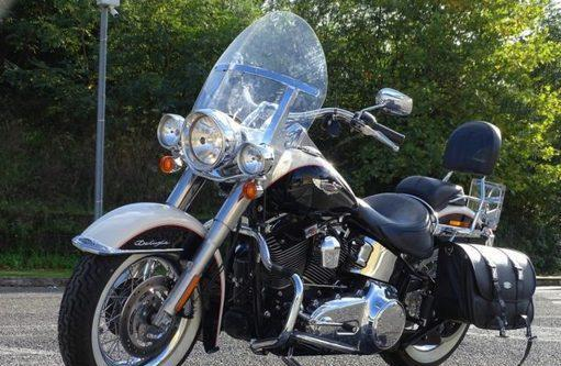 Portapacchi nero Harley Davidson Softail Street Bob con solo Sedile dal 2018 Nuovo Modello
