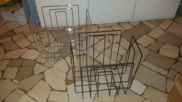 Portariviste design in acciaio