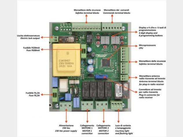 Scheda elettronica cancello h70/200ac roger