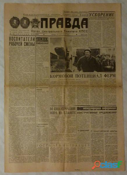 Il giornale URSS sovietico Pravda originale 24 maggio 1978 ottimo