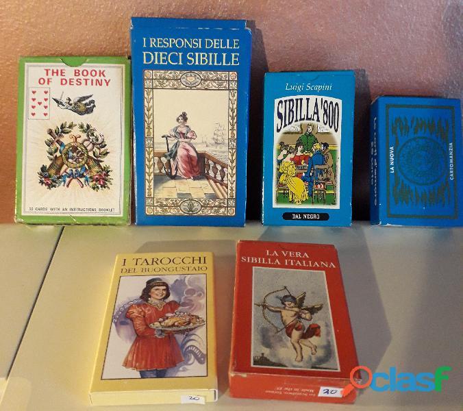 Sibille carte divinatorie mini collezione