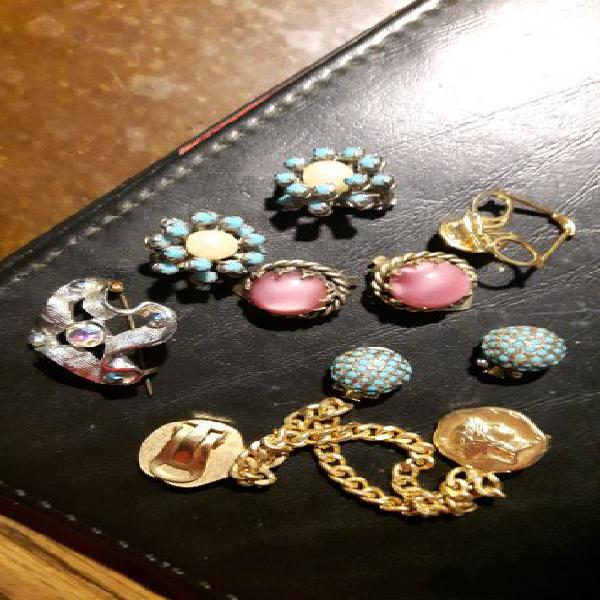 6 pezzi vintage anni 50/il paio di orecchini 7euro