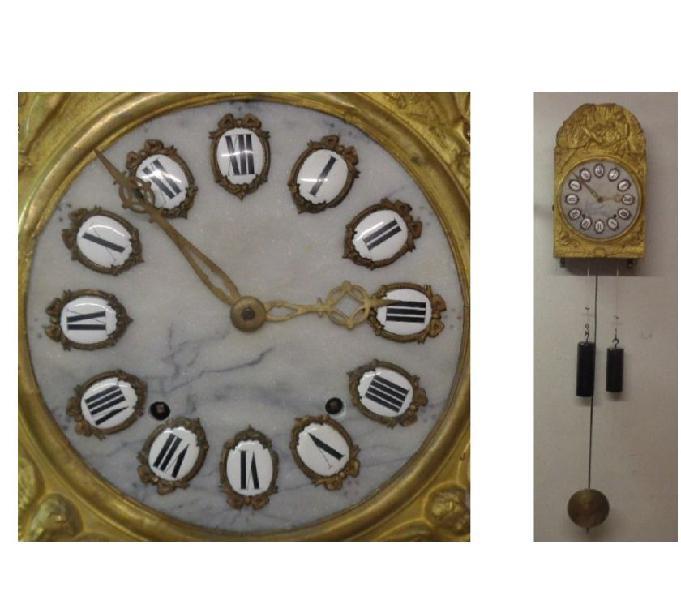 Orologio completo funzionante morbier pendolo a parete