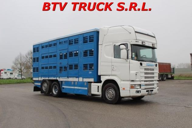Scania 164-480 trasporto animali vivi bovini ovini suini