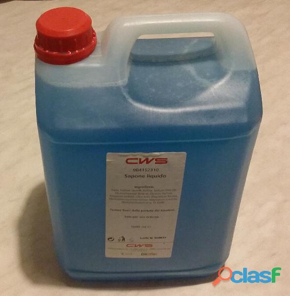 EU Ecolabel Sapone liquido CWS 904153310 tanica da 5 litri nuovo