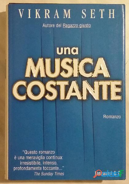 Una musica costante di vikram seth; ed.longanesi & c.milano 1999 nuovo