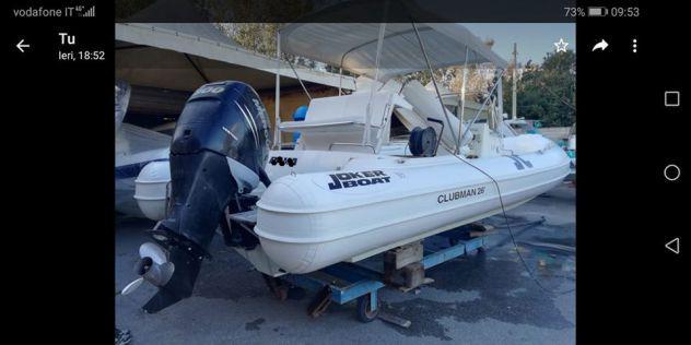 clubman 26 white cv300 verado 4t joker boat gommone 8mt