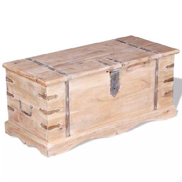 Vidaxl cassapanca in legno acacia