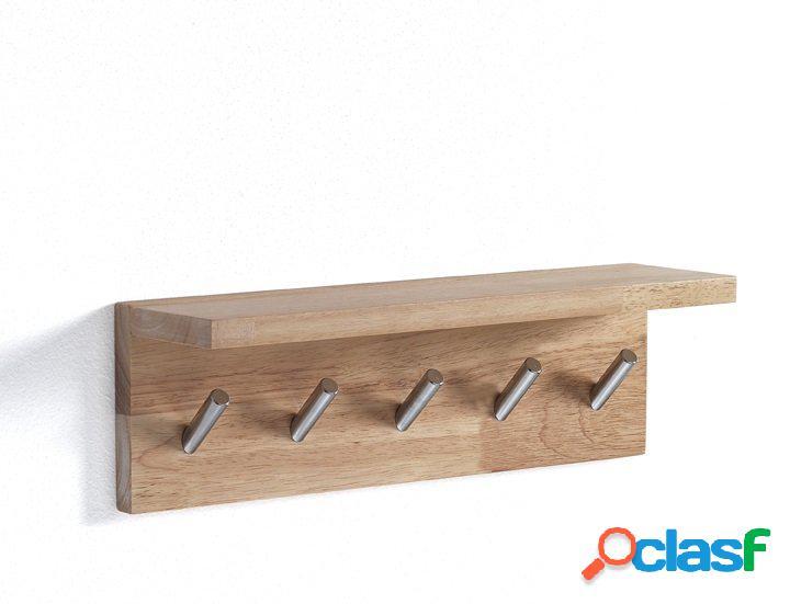 Appendiabiti da parete in legno con ganci