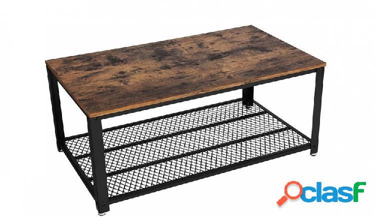 Tavolino da Divano Rettangolare in Stile Industriale