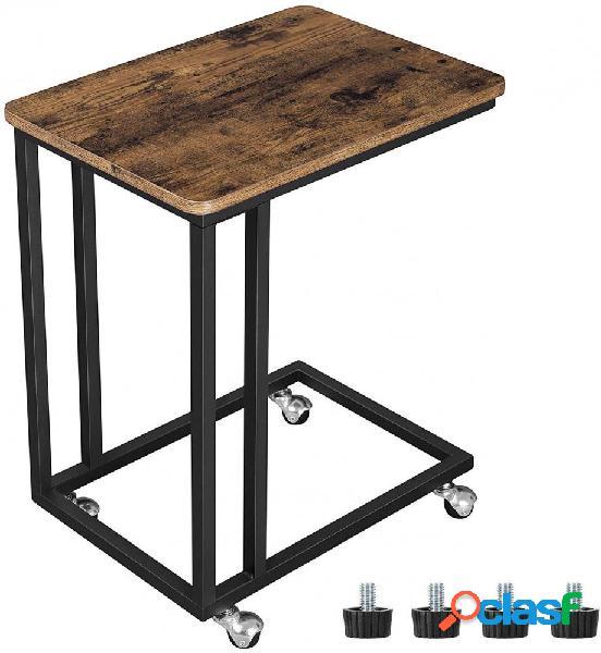 Tavolino da Letto/Divano con Ruote o Piedini Stile Industriale
