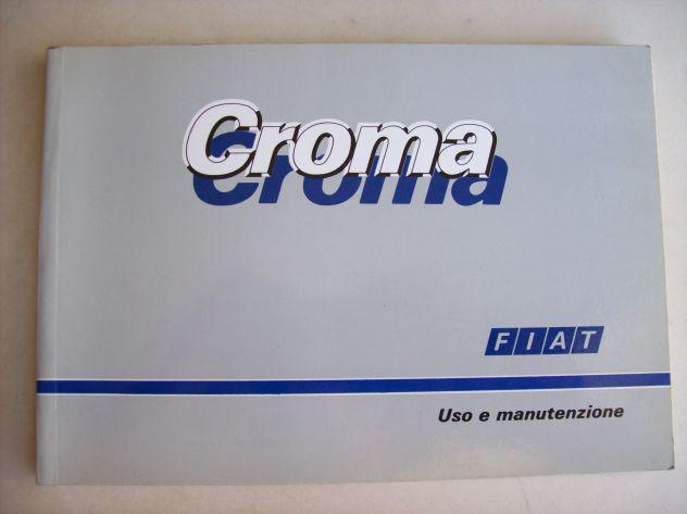 Fiat croma - libretto uso & manutenzione 25€