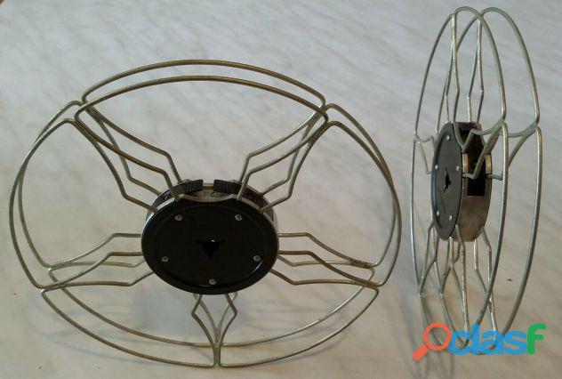 Due bobine in alluminio da 120 metri per il proiettore Eumig F8 Made in Austria Automatic perfetto