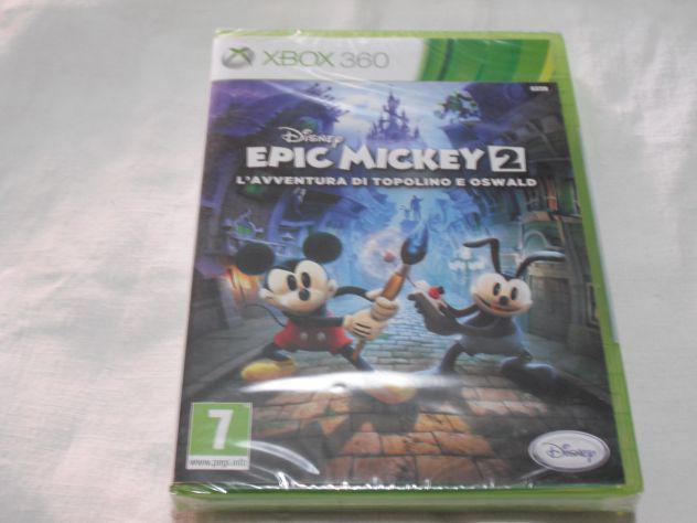 Videogioco epic mickey 2 xbox 360 pal nuovo & raro