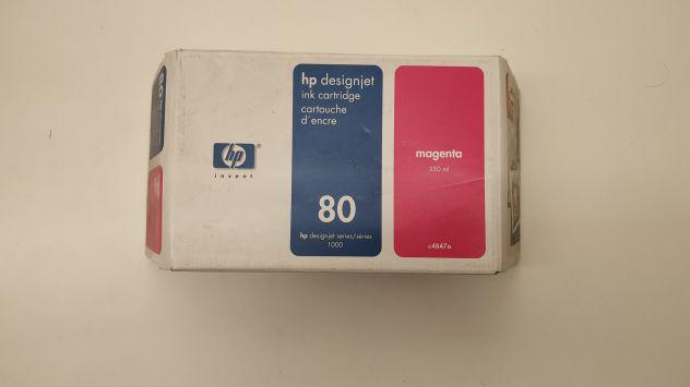 Cartucce 80 HP designjet serie: 1000, 350ml