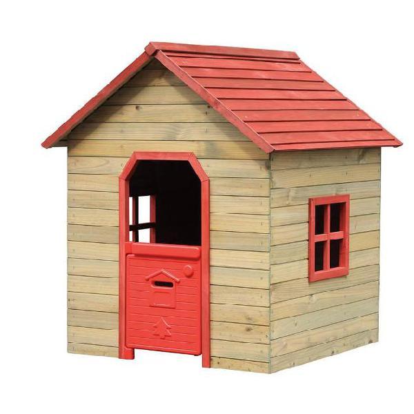 Casetta gioco per bambino in legno 120x125x140 cm fantasy
