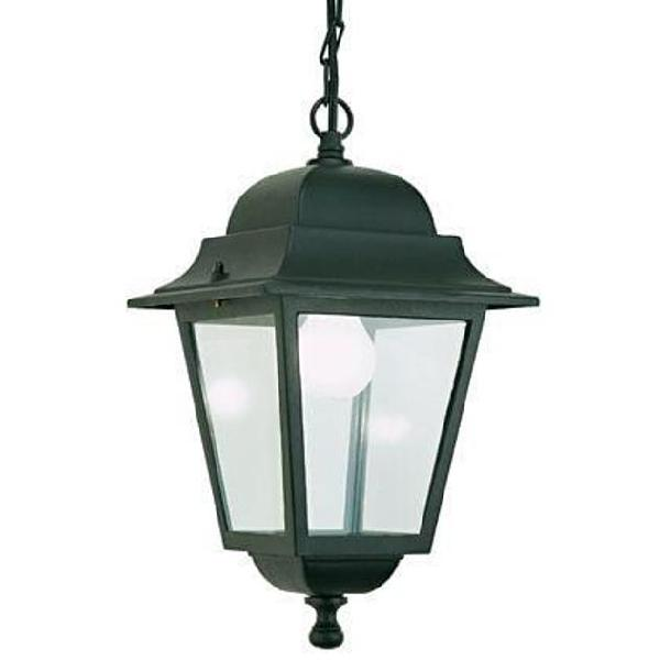 LAMPIONE LAMPADA LANTERNA QUADRATA CLASSICA ALLUMINIO PALETTO ESTERNO GIARDINO