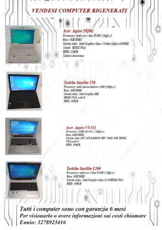 Laptop e pc fissi ricondizionati