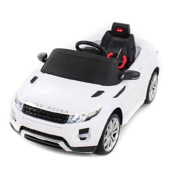 Macchina elettrica per bambini 12v range rover evoque bianca