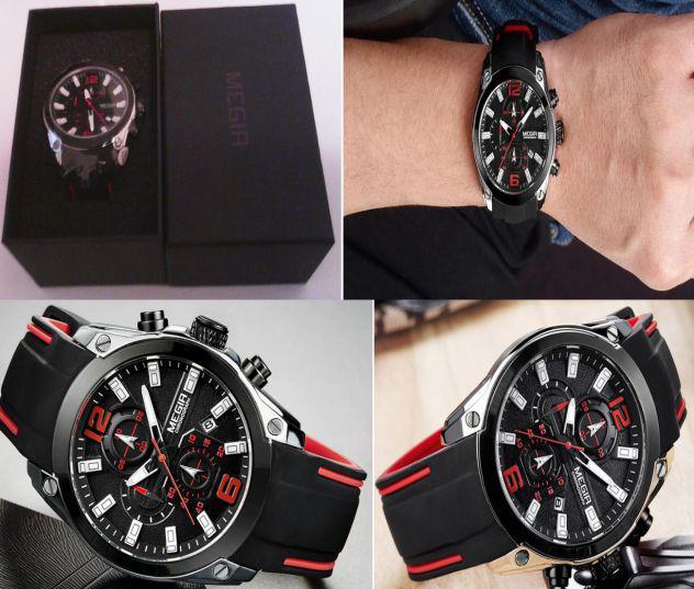 Orologio da polso nuovo marca megia sport limits watch
