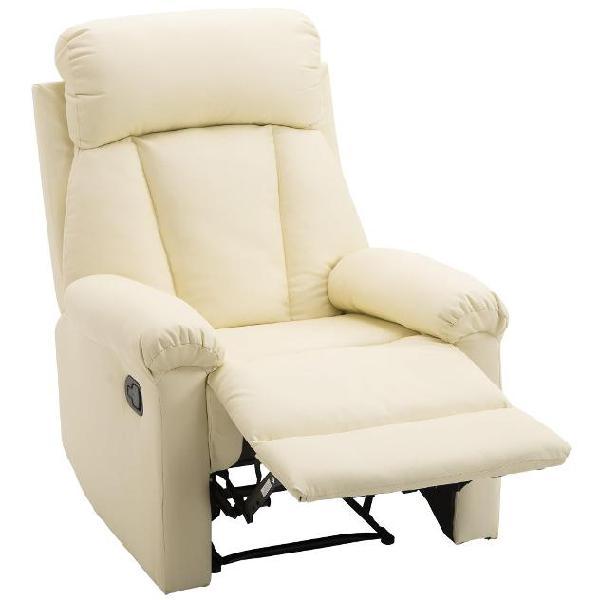 Poltrona relax classica in ecopelle schienale reclinabile e