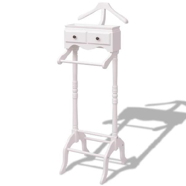 Vidaxl appendiabiti con armadietto in legno bianco