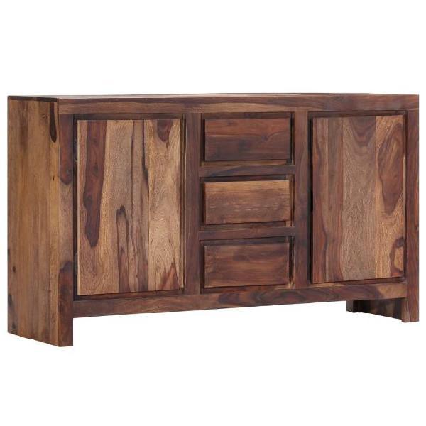 Vidaxl credenza 140x40x80 cm in legno massello di sheesham