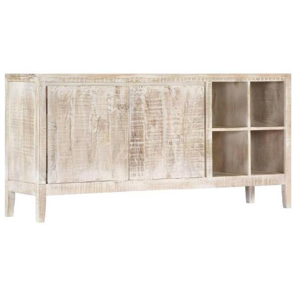 Vidaxl credenza 160x40x76 cm in legno massello di mango