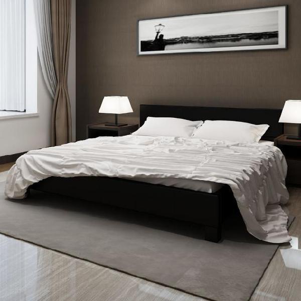 Vidaxl letto con materasso nero in similpelle 180x200 cm