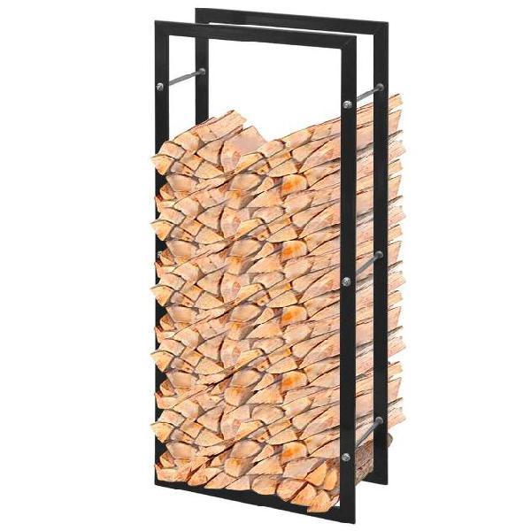 Vidaxl porta legna da ardere rettangolare 100 cm