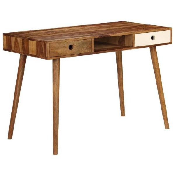 Vidaxl scrivania in legno massello di sheesham 110x55x76 cm