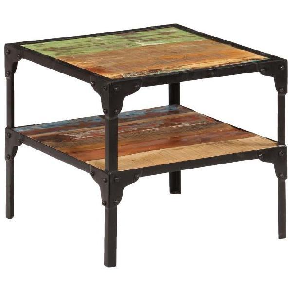 Vidaxl tavolino laterale in legno massello di recupero