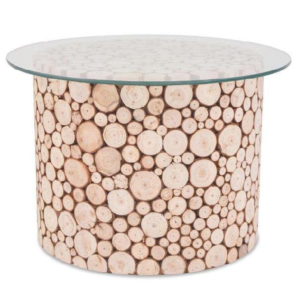 Vidaxl tavolino da caffè in legno autentico 60,5x40 cm